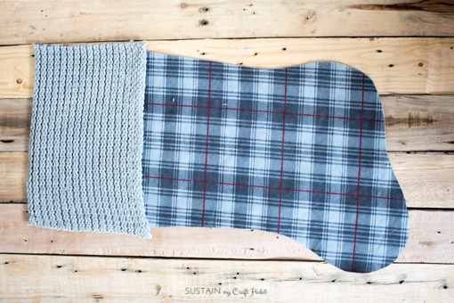 DIY flannel and upcycled knit sweater Christmas stockings-7541.jpg