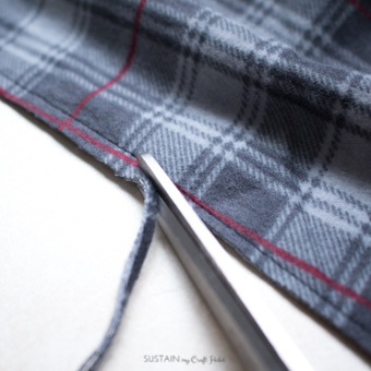 DIY flannel and upcycled knit sweater Christmas stockings-7546.jpg