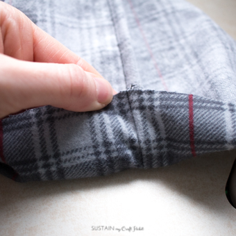 DIY flannel and upcycled knit sweater Christmas stockings-7551.jpg