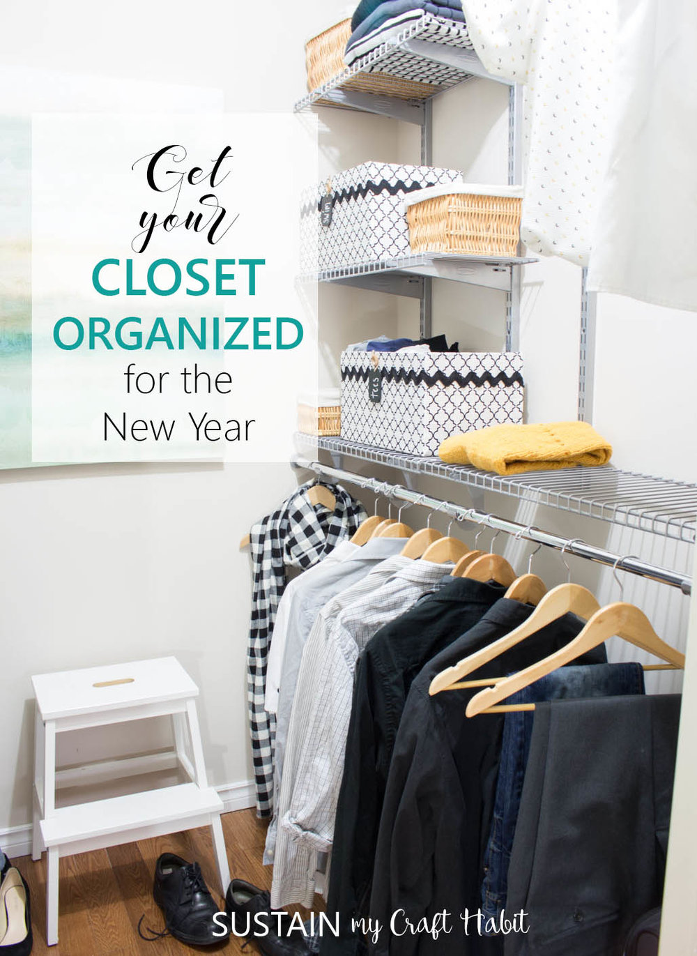 How to install a Rubermaid Configurations Closet organizing sytem | DIY home organization ideas