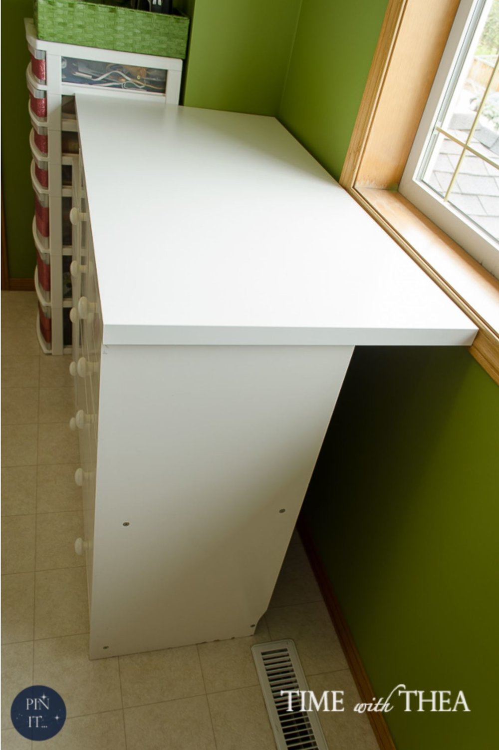 DIY concealed storage for large items and other IKEA hack home organizing ideas.
