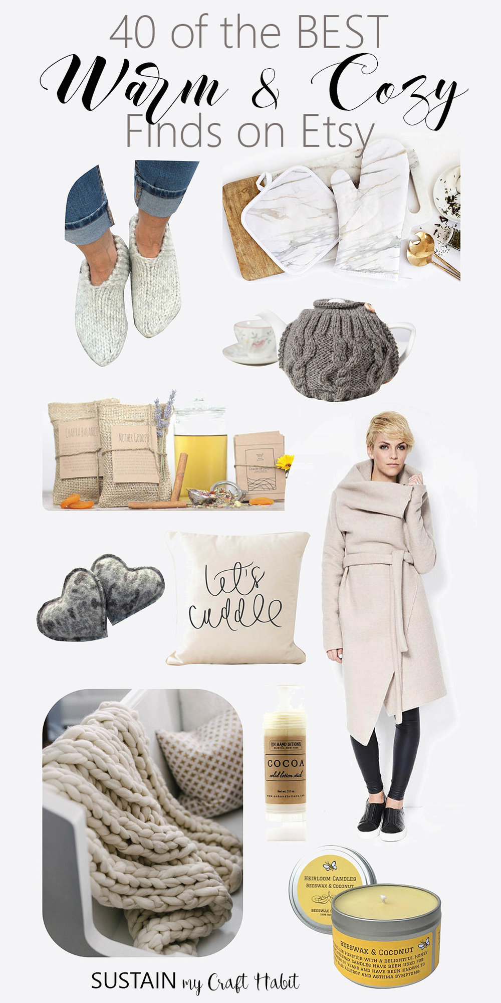 The best handmade and natural ideas from Etsy to keep you warm and cozy this winter.