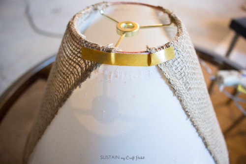 Neutral lamp makeover with burlap shade - Sustain My Craft Habit-8866.jpg
