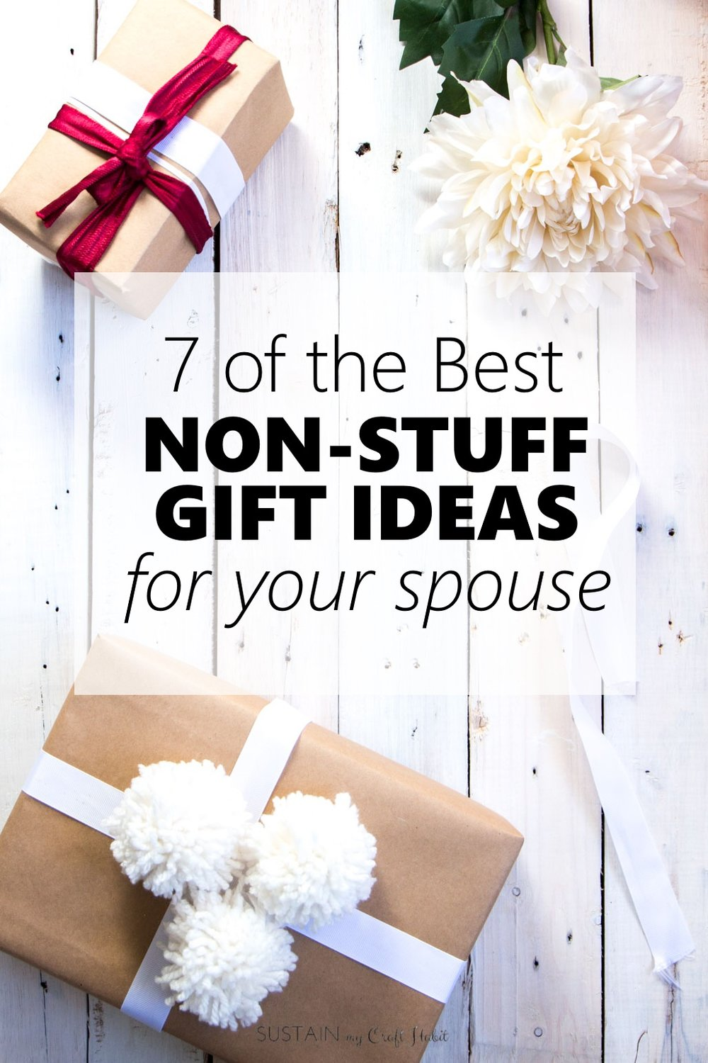 Best non-stuff gift ideas for your spouse | Thoughtful gifts for husband, boyfriend, girlfriend or wife | Meaningful gifts for men and women | Christmas gift ideas for the family | Mother's Day, Father's Day gift ideas