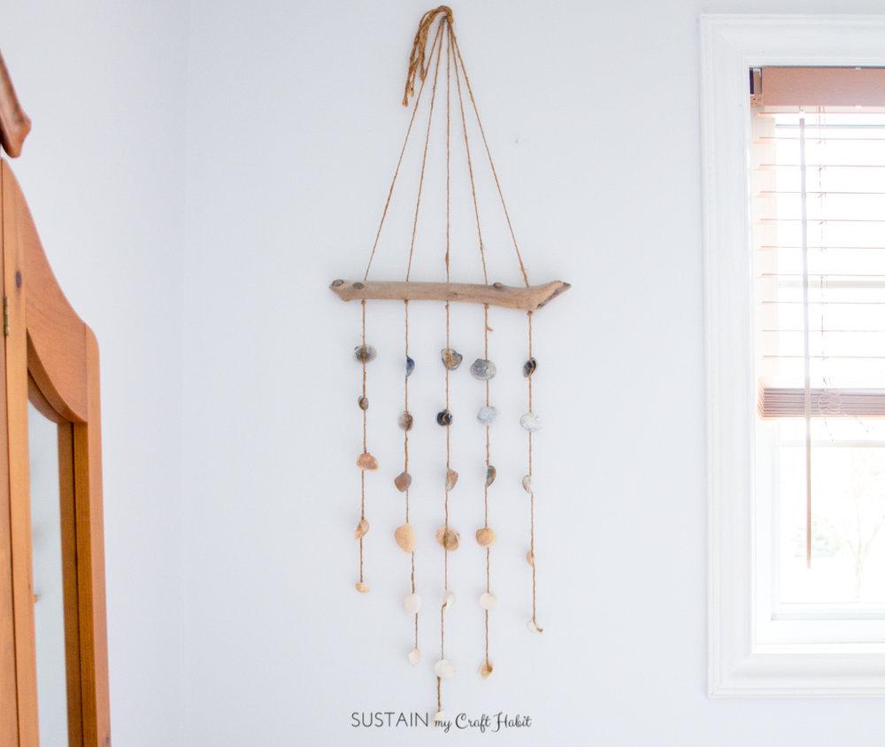 DIY seashell wall hanging - Sustain My Craft Habit-4236.jpg