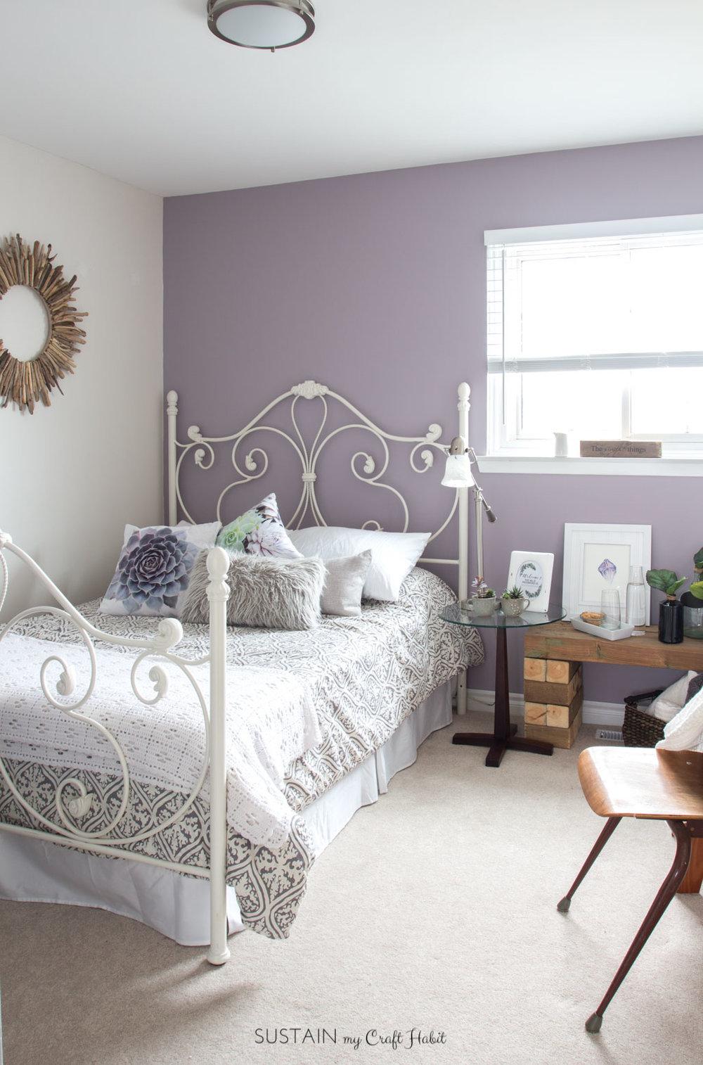mauve lous guest bedroom ideas a simple spare room refresh u2013 diy