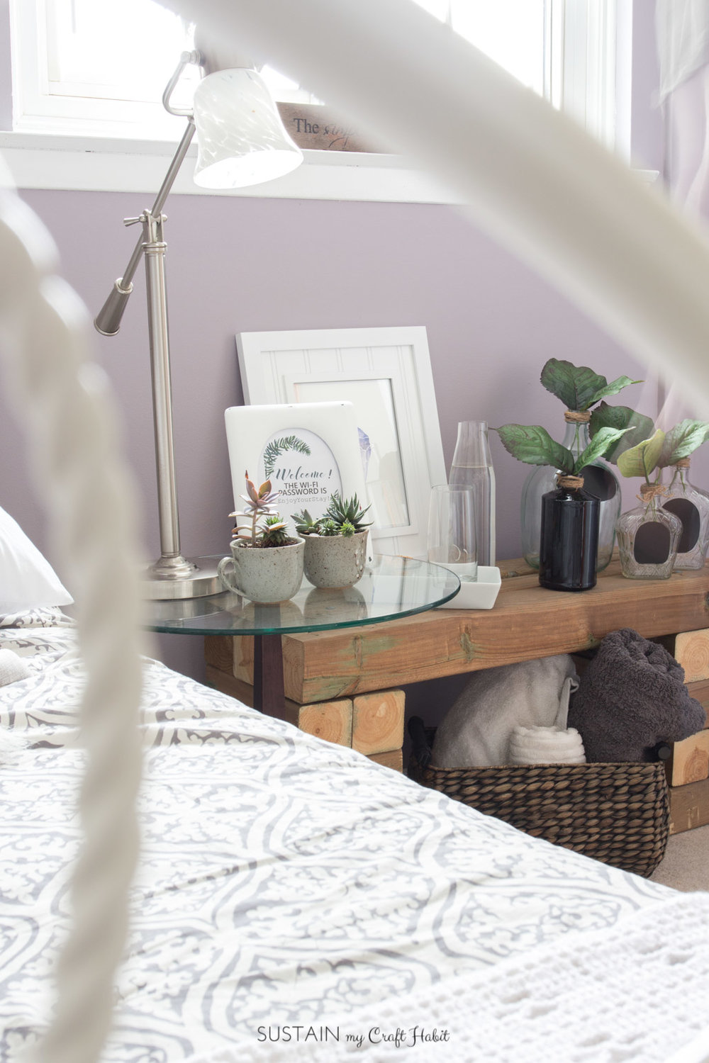 These 13 DIY guest room decor ideas on a budget are a great way to transform a spare bedroom to a rustic french country retreat for your guests. You Look Mauve-lous paint by Beauti-Tone. #ad