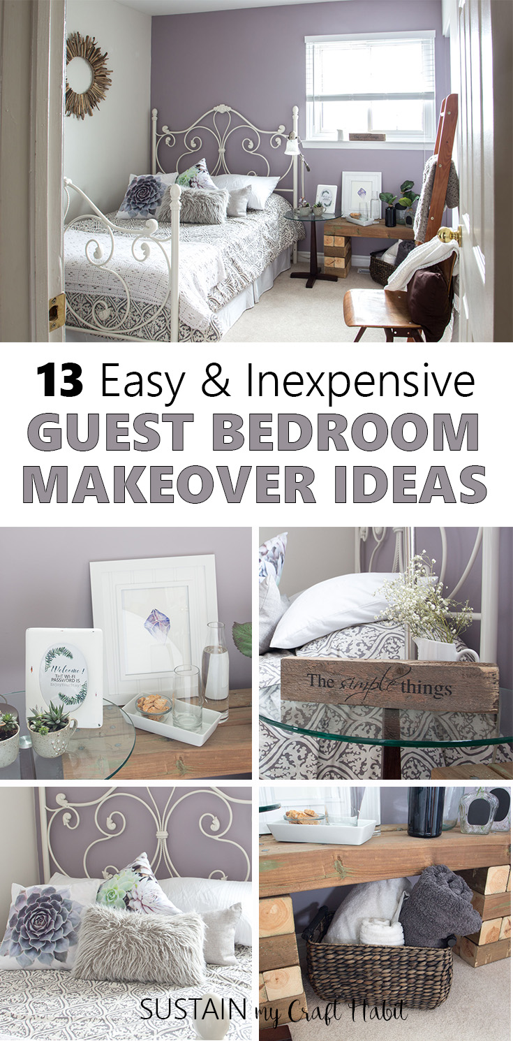 These 13 DIY guest bedroom decor ideas on a budget are a great way to transform a spare room to a rustic french country retreat for your guests. You Look Mauve-lous paint by Beauti-Tone. #ad