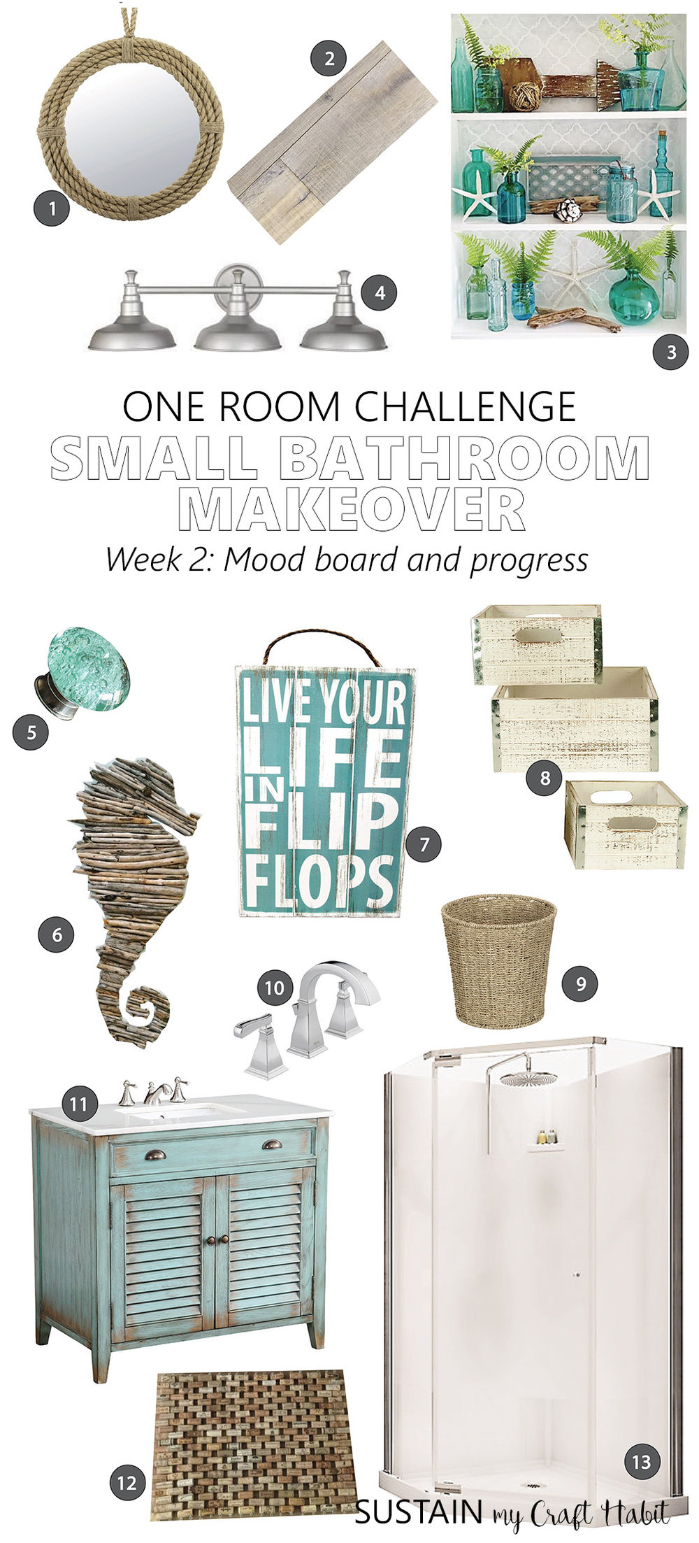 One Room Challenge | Spring 2017 Edition | Small Bathroom Remodel – Week 2