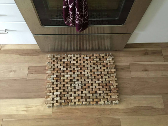 Cork floor and bath mat | Touches of Teal coastal cottage mood board | Small bathroom remodel | Spring 2017 One Room Challenge by Sustain My Craft Habit