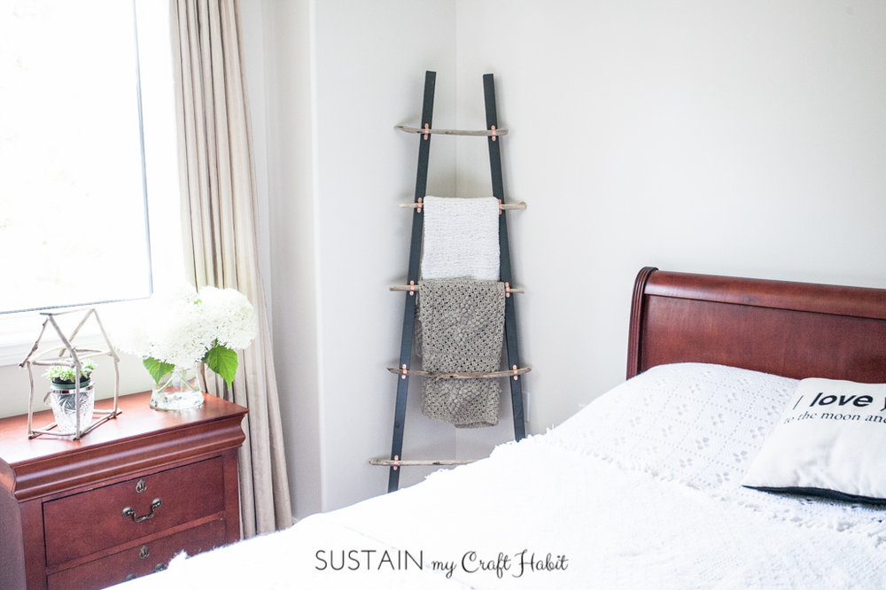 How to make a DIY blanket ladder with driftwood pieces and Home Depot Canada-1665.jpg