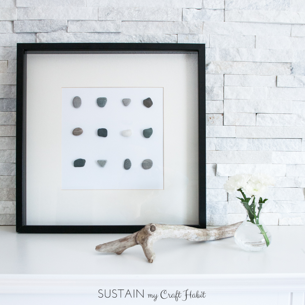 Simple DIY wall art with beach stones-0488-3.JPG
