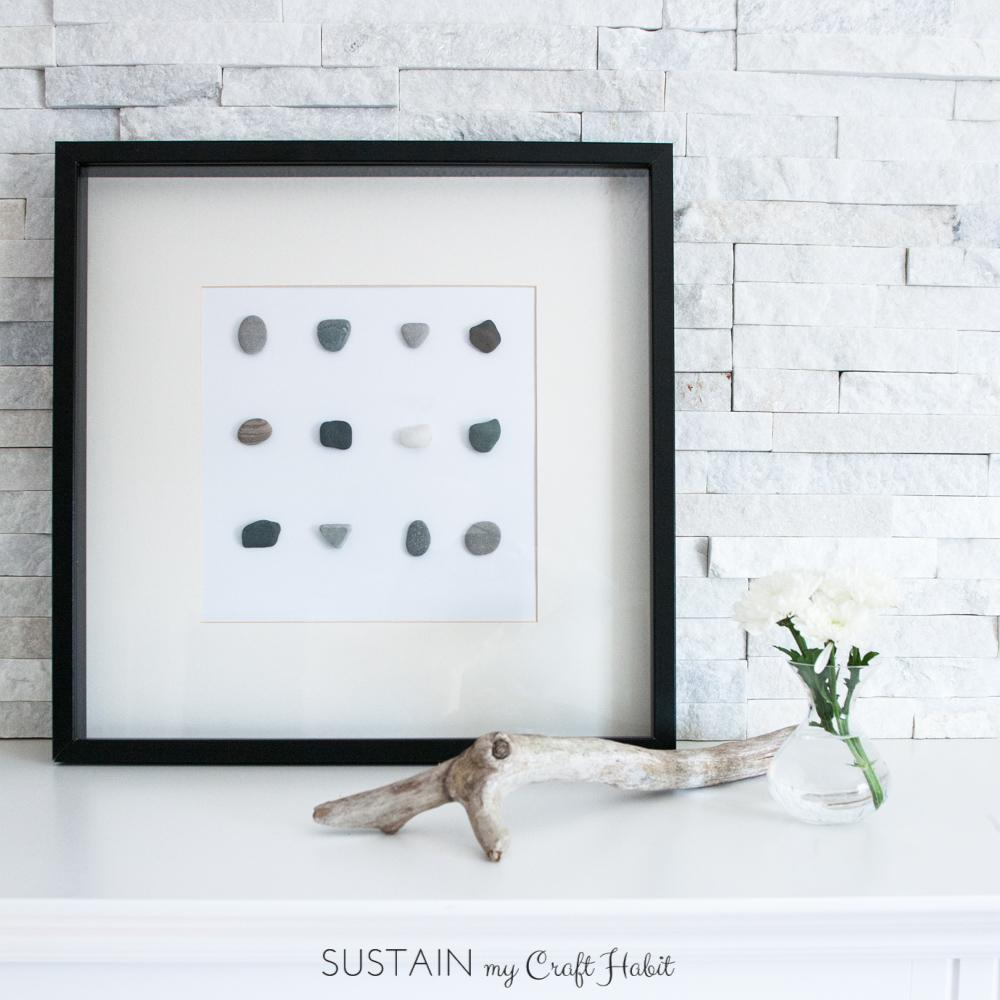 Simple DIY wall art with beach stones-0488-3.JPG