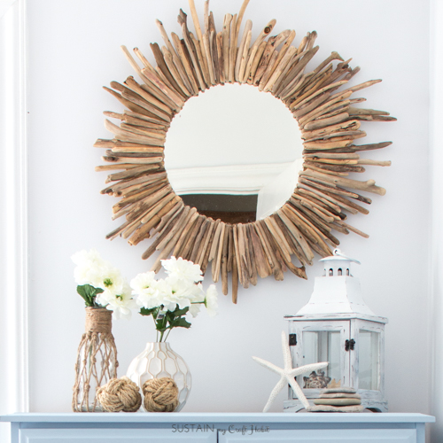 Learn how to make your own gorgeous round driftwood mirror with this step-by-step tutorial including printable workbook!