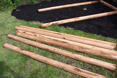 DIY raised garden bed railway ties