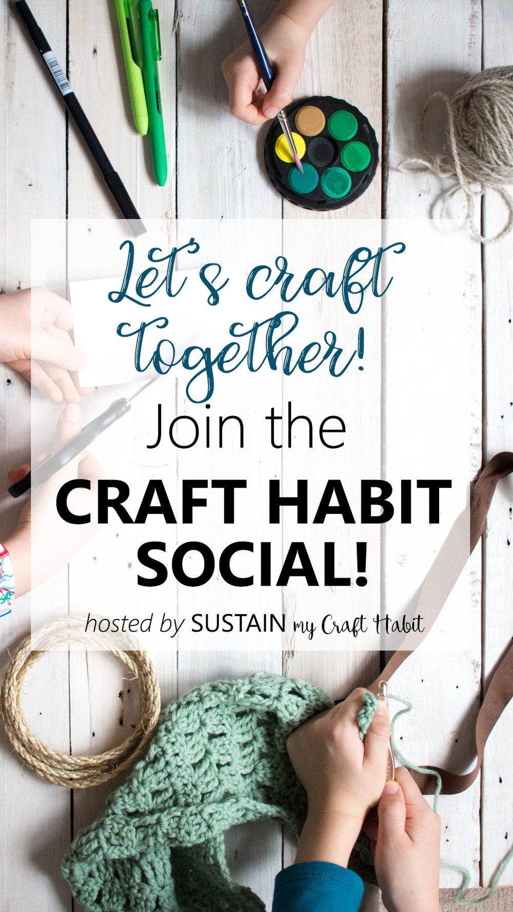 A group for craft addicts. Join and share with the Craft Habit Social hosted by Sustain My Craft Habit.