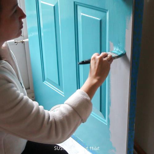 DecoArt Curb Appeal Harbor Blue paint on a front door-1.jpg