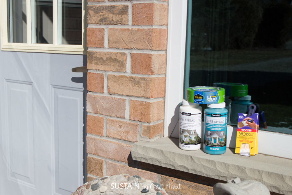 Supplies needed to paint a metal front door without removing it