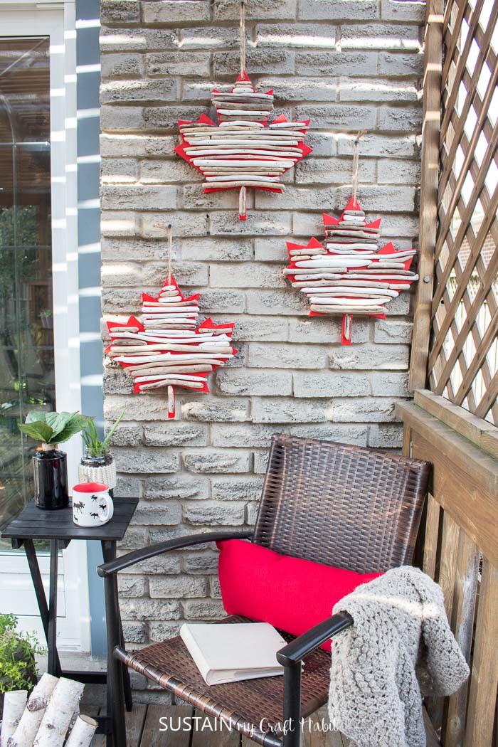 Canada Day Crafts: DIY Maple Leaf Décor with Driftwood