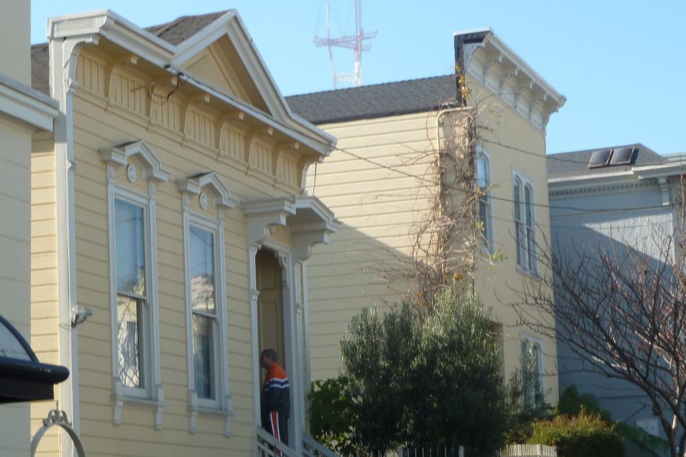 Two early flat-front homes in the Castro.