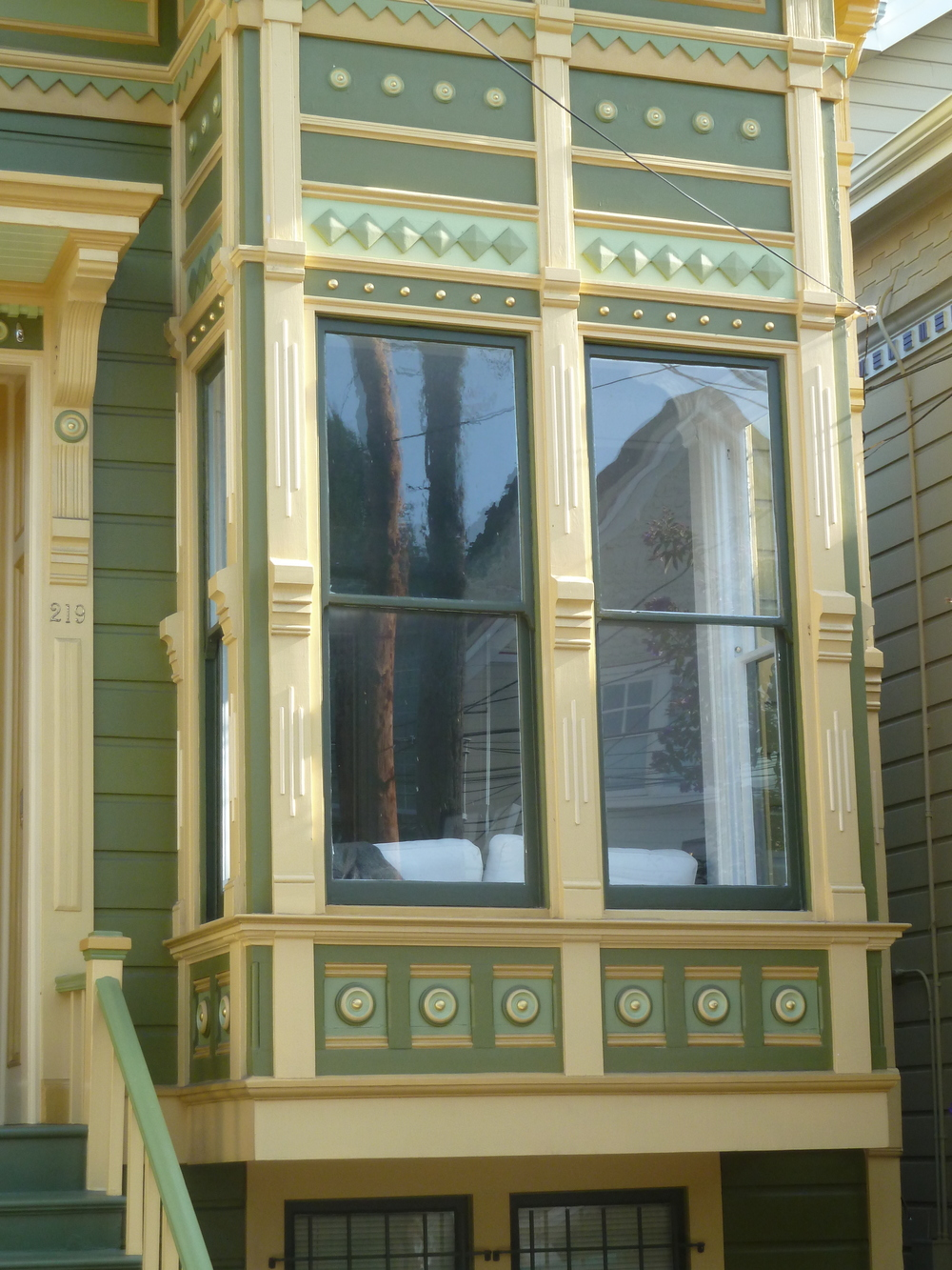 Geometric details on a San Francisco Stick home in the Castro.