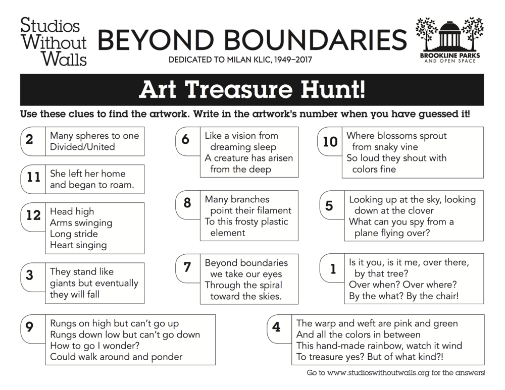 Beyond Boundaries Treasure Hunt Answers