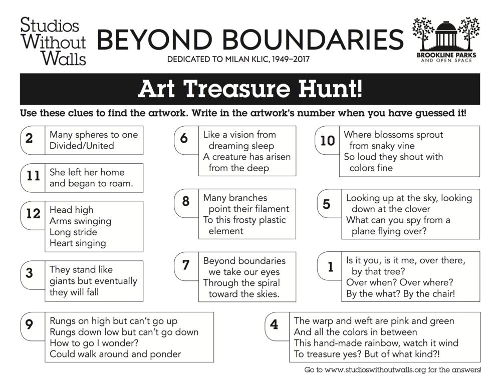 Beyond Boundaries Treasure Hunt Answers