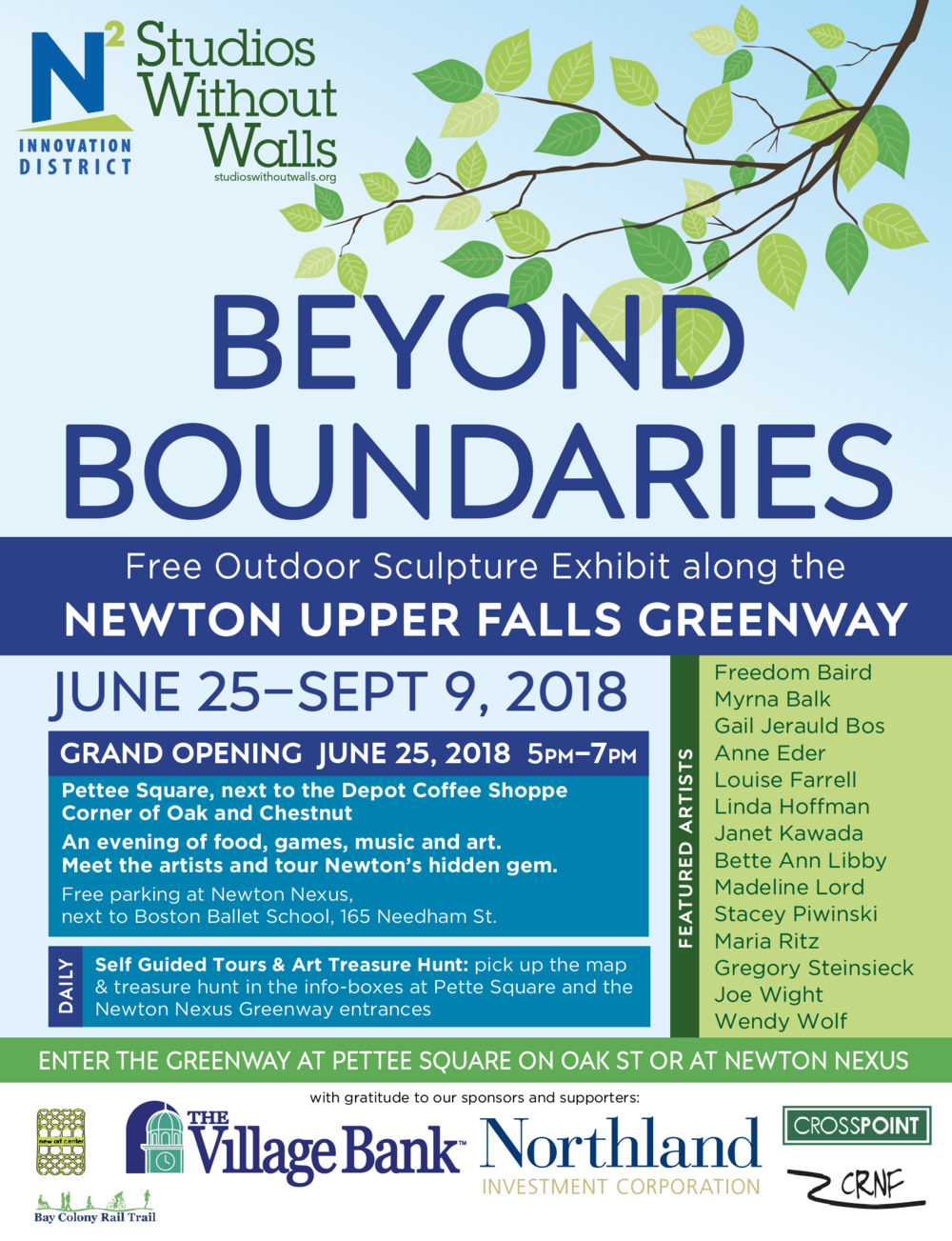 Beyond Boundaries at the Newton Upper Falls Greenway
