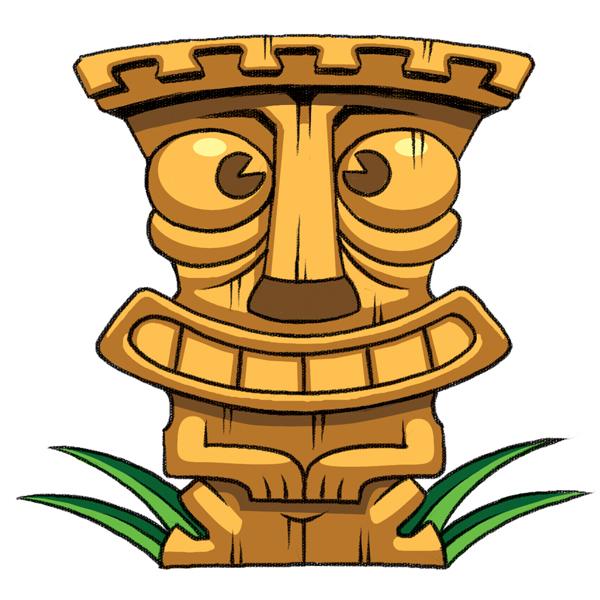 Steve gray humorous children 39 s book illustration for Tiki hawaiano