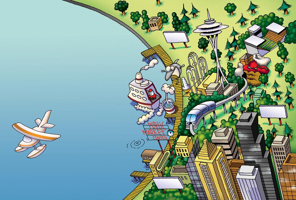Cartoon Maps Steve Gray Humorous Childrens Book Illustration