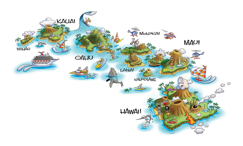Cartoon Maps — Steve Gray Humorous Children's Book Illustration on