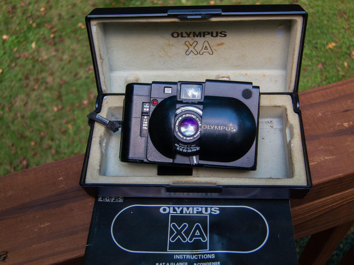A 1979 Vintage Olympus XA Compact Rangefinder Film Camera