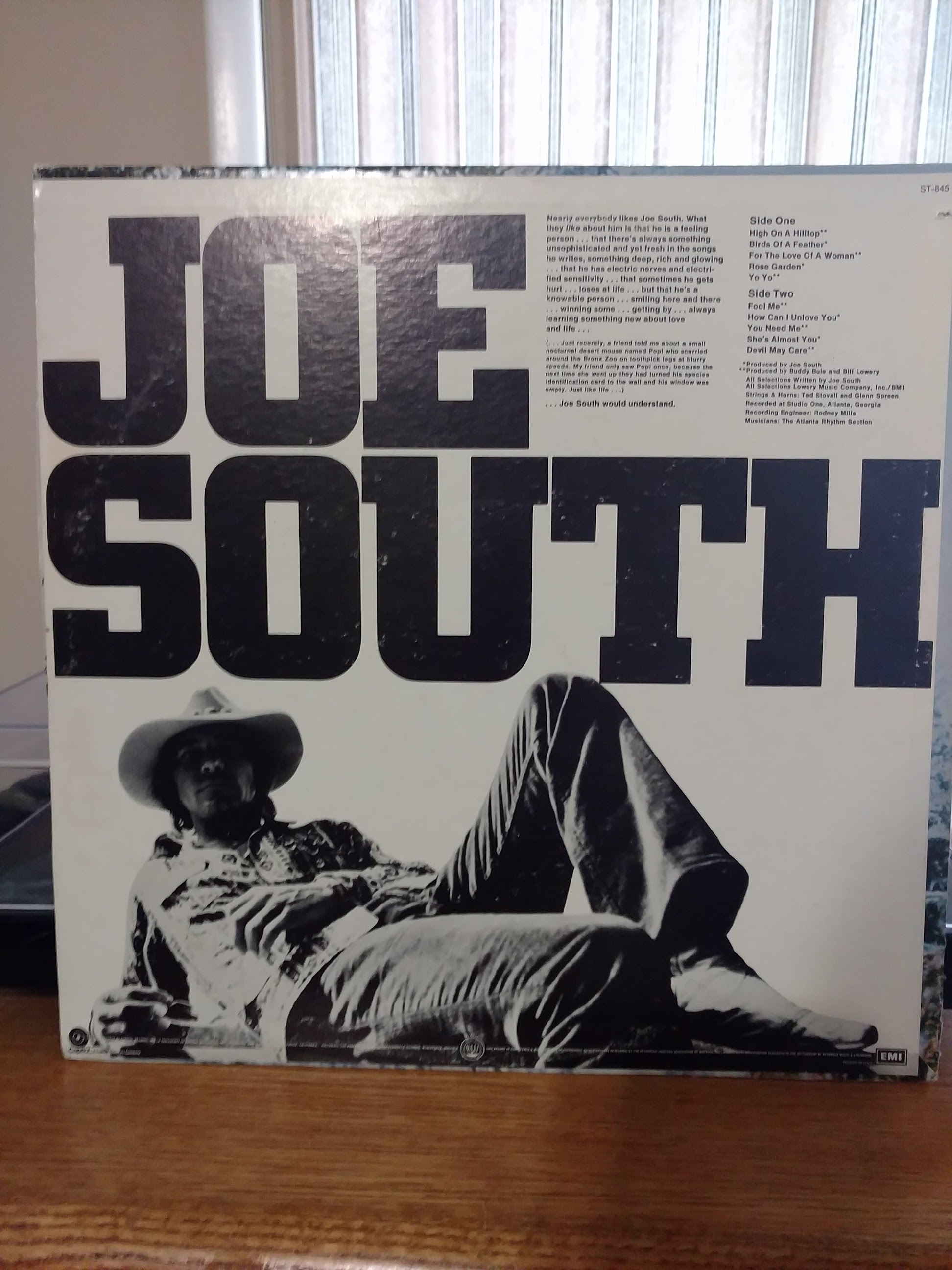 The back of the Joe South album