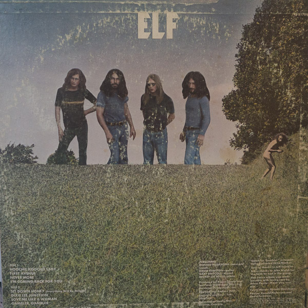 back cover of elf album