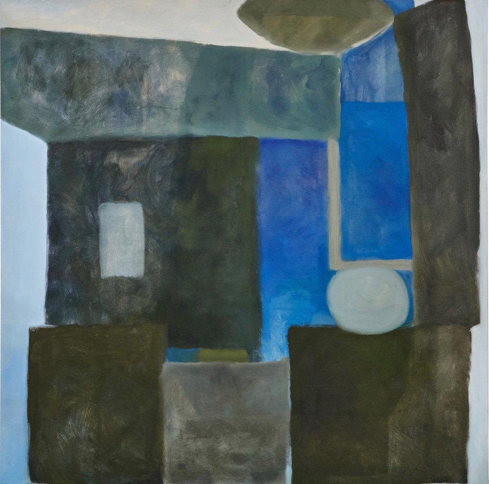 """Moonlight, 48""""x48"""" oil on canvas"""