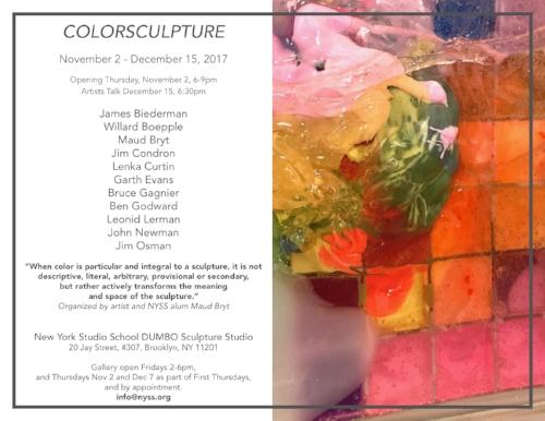 COLORSCULPTURE exhibit, DUMBO Brooklyn