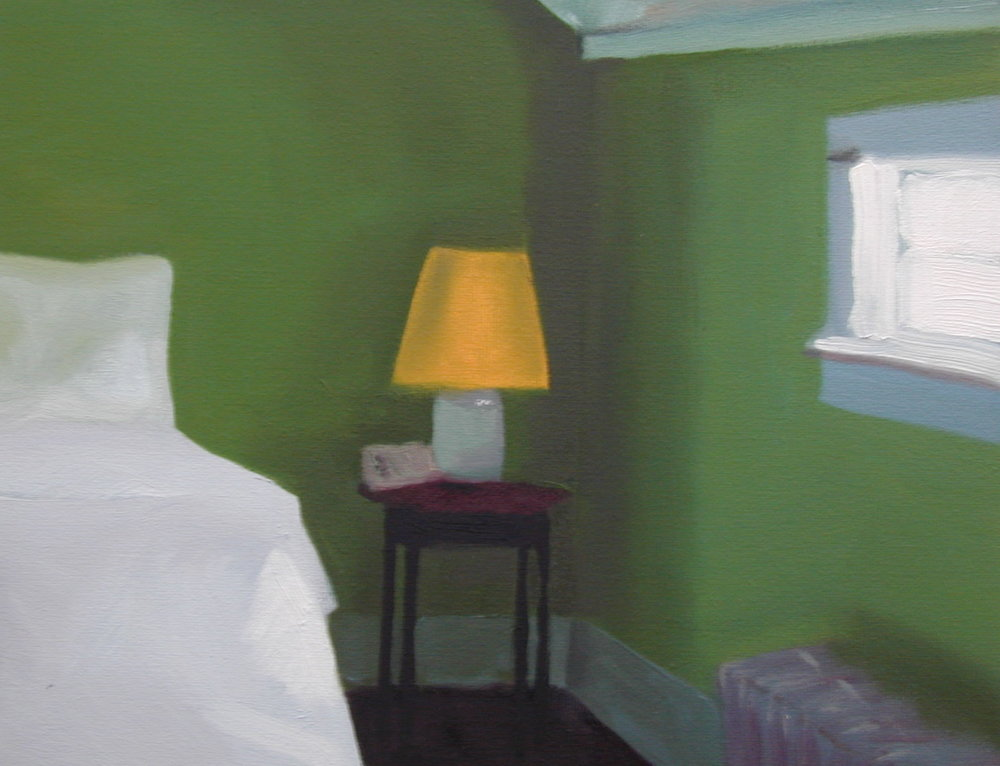 Well room. 8 x 10 inches, oil on canvas. ---