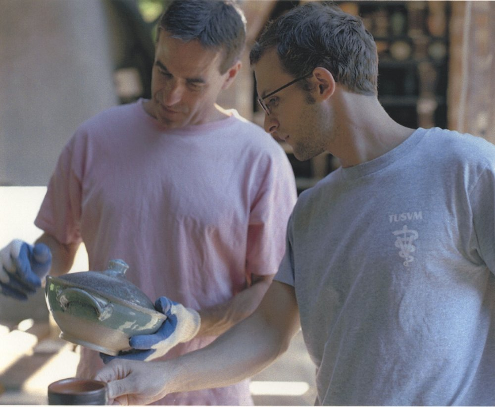 Mark Shapiro and Michael McCarthy at Stonepool Pottery