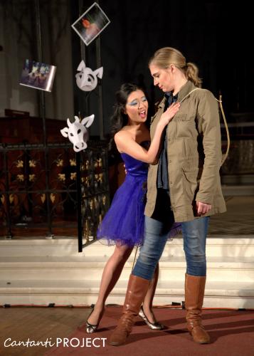 Joyce as morgana with tara Gruszkiewicz as bradamante. photo credit: samer ghanem.