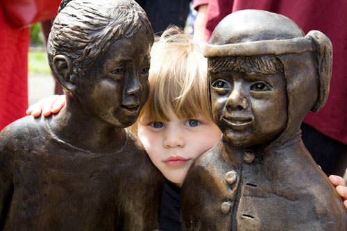 'Children of the Fair' sculpture (Photo: Claire Goldsmith Photography)