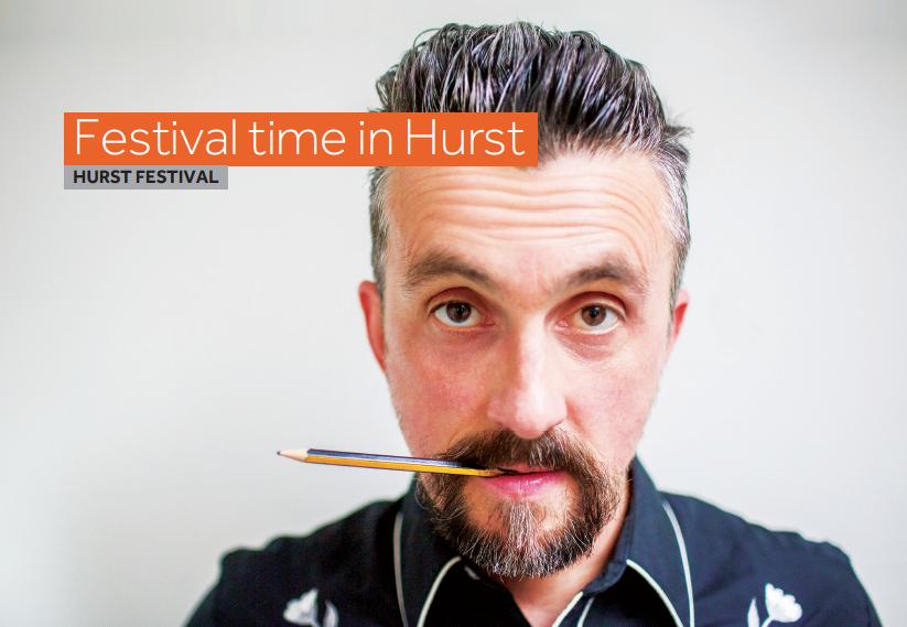 Picture of artist at Hurst Festival.