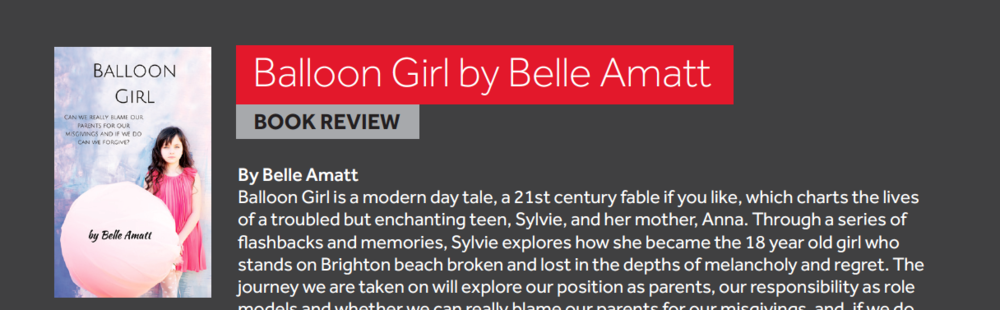 Belle Amatt wrote her modern day teenage tale Balloon Girl