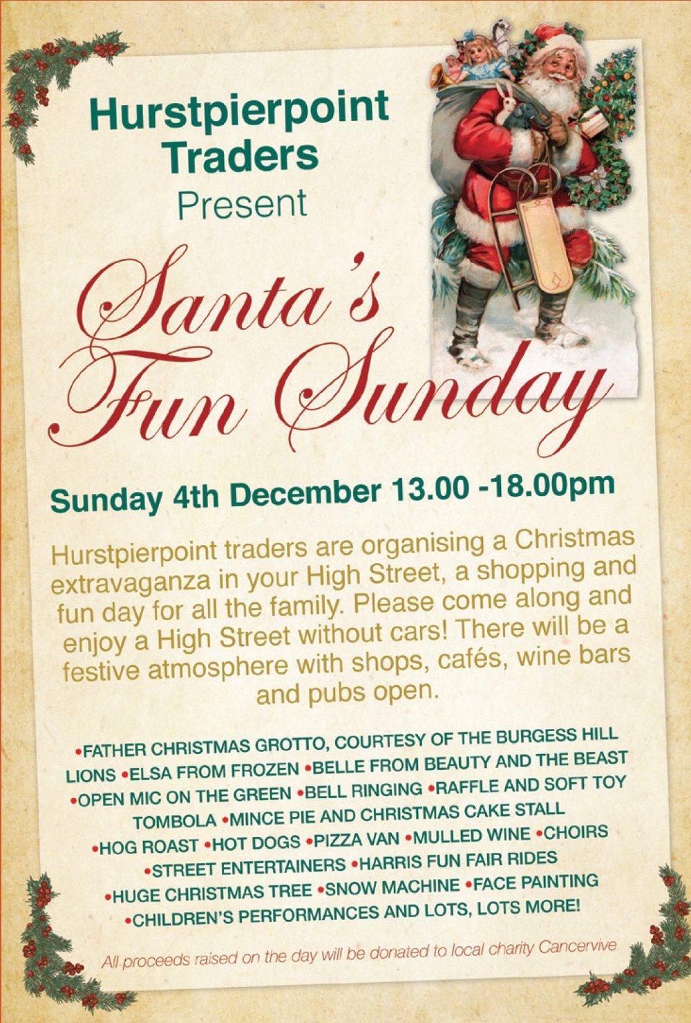 Hurstpierpoint Traders present Santa's Fun Sunday 2016