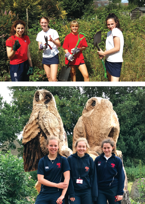 Hurst College students in action around Hurstpierpoint