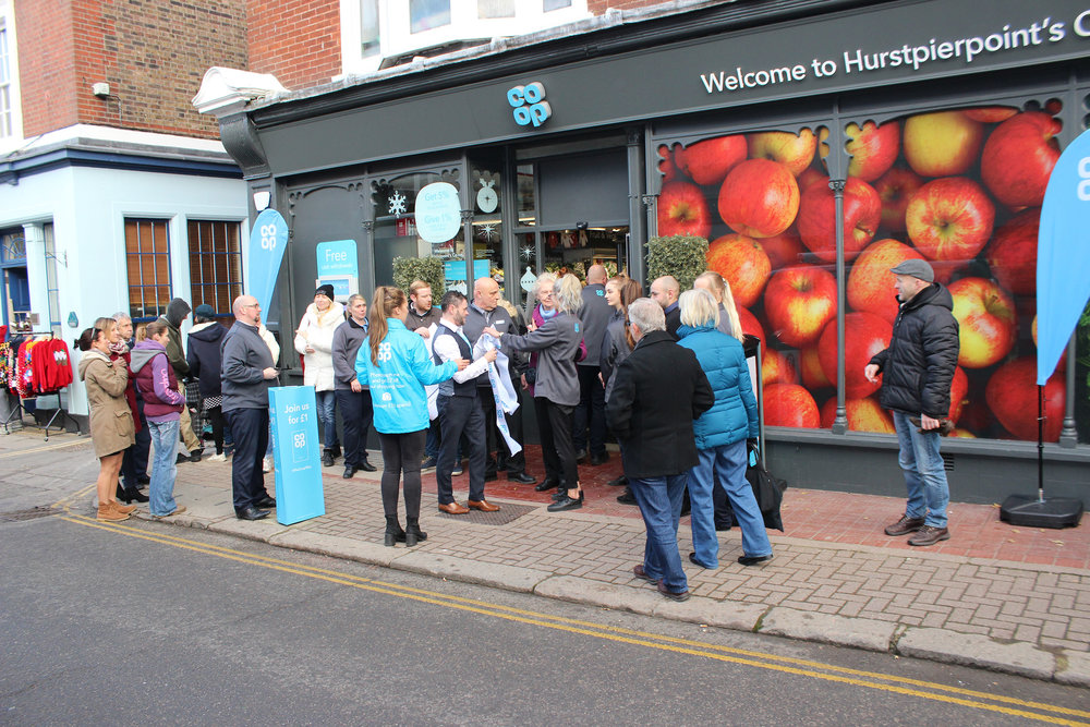 Hurstpierpoint Co-op store opening ceremony - Weds 29th Nov 2017