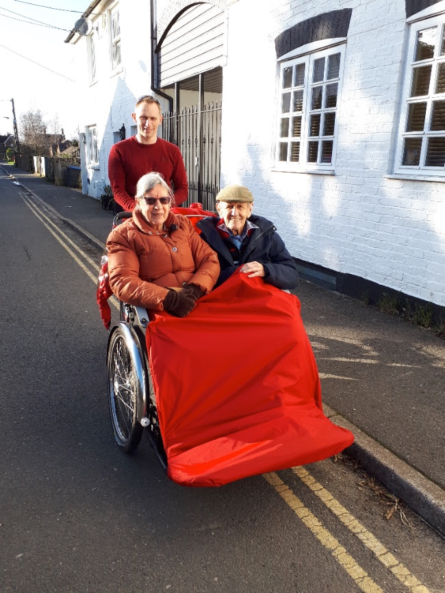 Cycling without Age Trishaw in Hurst