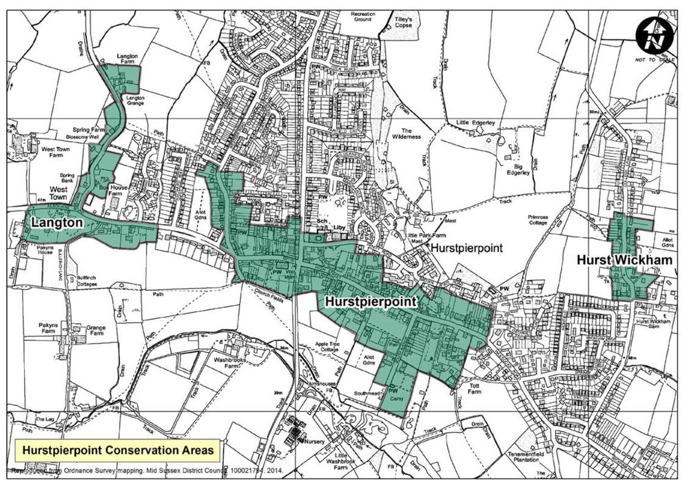 This map shows the conservation areas currently in Hurstpierpoint