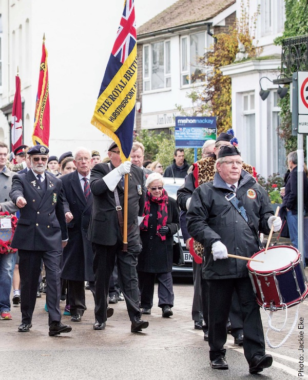 Remembrance Parade in Hurstpierpoint, West Sussex