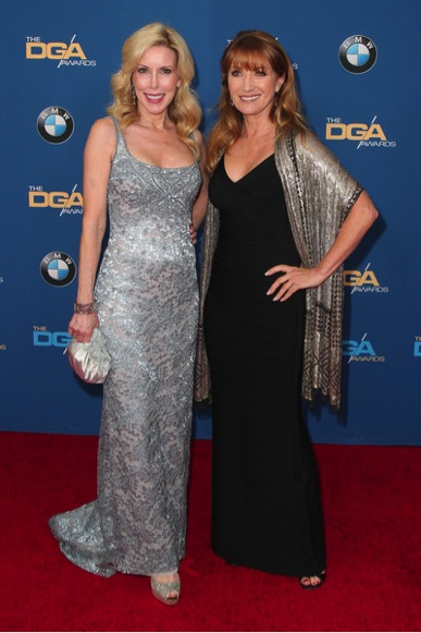 Kim Campbell and actress Jane Seymour attend the 67th Annual Director's Guild of America Awards at the Hyatt Regency Century Plaza on February 7, 2015 in Century City, California
