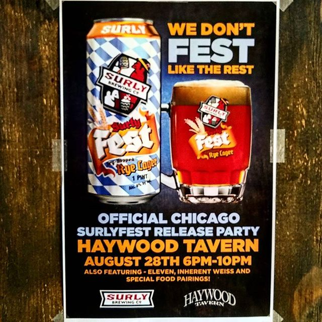 SurlyFest release party happening this Monday 8/28! We will be serving Surly Eleven and Inherent Weiss on tap as well. Starts at 6pm. Tiger Cry Doner Kebabs special too! #surlyfest #humboldtpark #patioparty #donerkebab #whattodoonamonday #surlybrewing #beer #chicagoeats #chicagodrinks